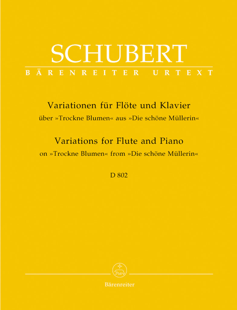 "Introduction and Variations on ""Trockne Blumen,"" Op. Posth. 160, D 802 (Flute and Piano)"