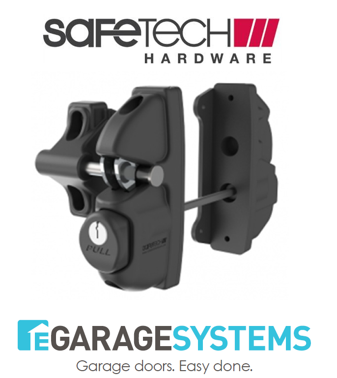 Safetech Gravity Double Sided Pedestrian Gate Latch Black Keyed - SLV-Viper-X2