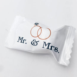 Buttermints - Mr. & Mrs., 13 oz. Bag - Approximately 105 Individually Wrapped Mints - Wedding Mints
