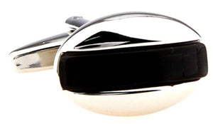 Classical Stylish Hard Wearing Black Onyx Inspired Cufflinks Direct
