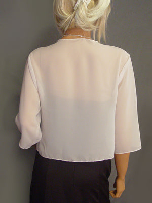 Lauren Chiffon jacket with 3/4 sleeves