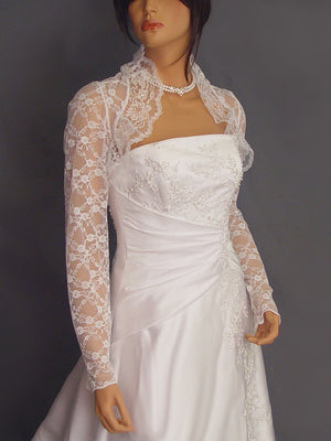 Lucille in Lace with long sleeves