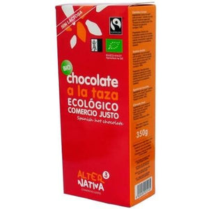 Chocolate a la Taza Sin Gluten Bio Fairtrade AlterNativa3 350g