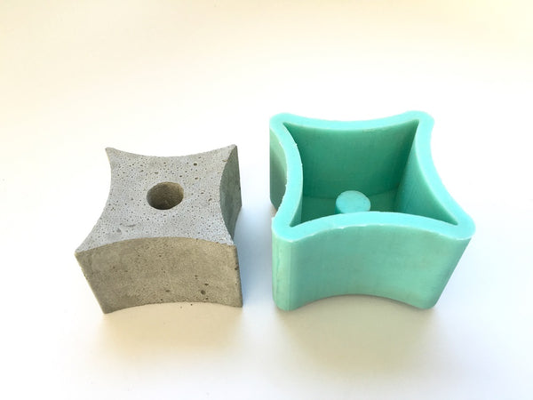 Tetracuspid - Asteroid Planter Mold - Silicone
