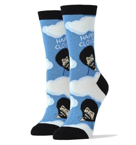 Women's Bob Ross Happy Clouds Socks