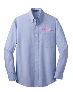 MBA CHEDDAR - Port Authority Crosshatch Easy Care Shirt - Chambray Blue
