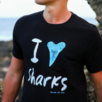 I Heart / Tooth Sharks Mens / Unisex T-Shirt - Seascape Life
