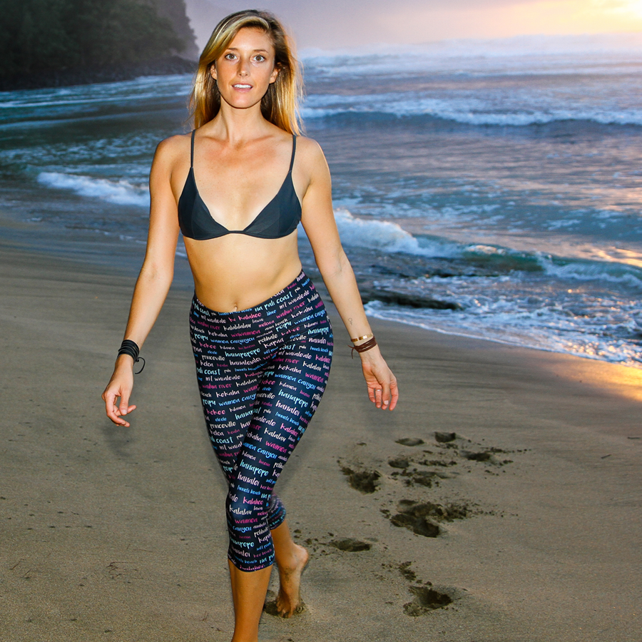 Kauai Towns & Sites Womens Leggings - Seascape Life