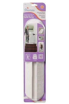 New Dreambaby Baby Gate Watch the Step No Trip Ramp White Baby Safety Dream - BumpsieDaisy
