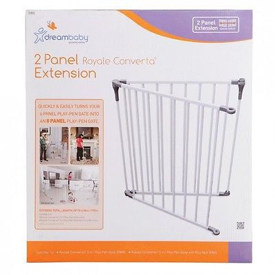 New Dreambaby Royale Converta Playpen 2 Panel Safety Baby Gate Extension Dream - BumpsieDaisy