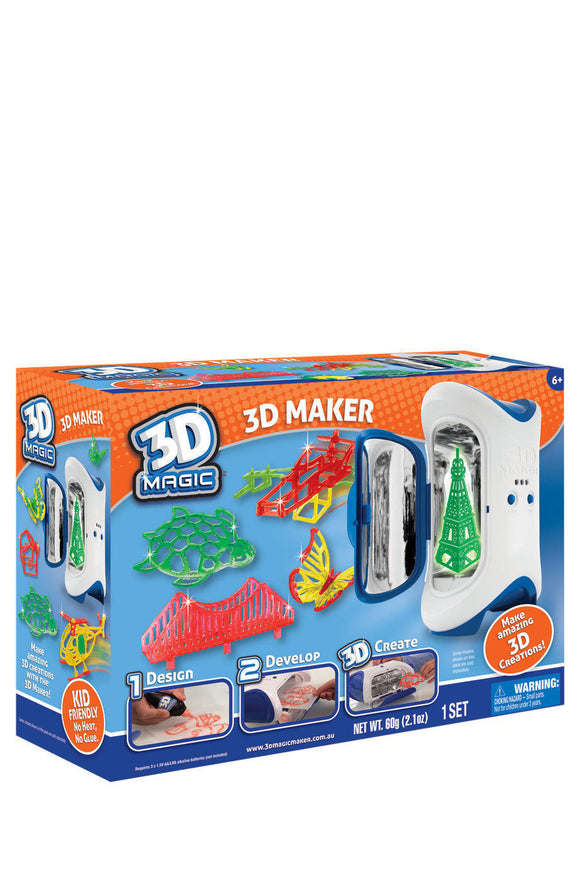 NEW 3D Magic Maker Make Amazing 3D Creations incl 3 Makers Gels Moulds Stencils - BumpsieDaisy