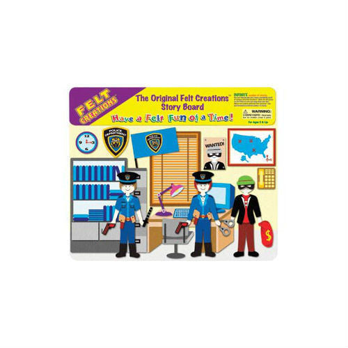 NEW Felt Creations Police Station Criminal Scene Puzzle Felt Board - BumpsieDaisy