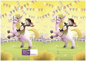 Spencil Gymkhana Horse A4 School Book Cover