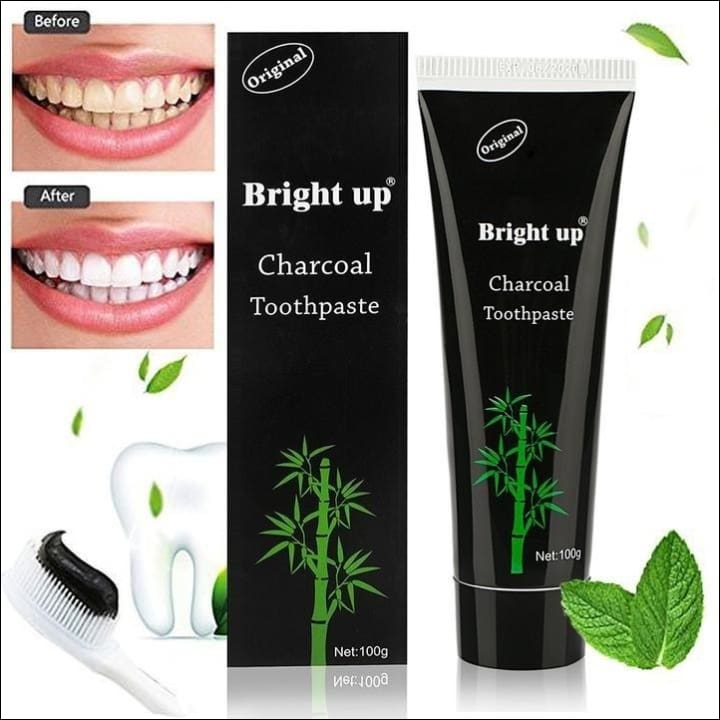 Natural Black Mint Flavor Herbal Organic Activated Charcoal Bamboo Toothpaste Teeth Whitening