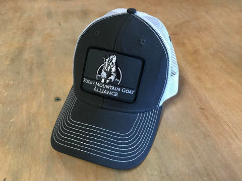 Patched RMGA Trucker Grey/White