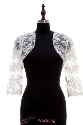 bridal-3-4-sleeves-bolero-lace-in-ivory-open-front-wedding-top