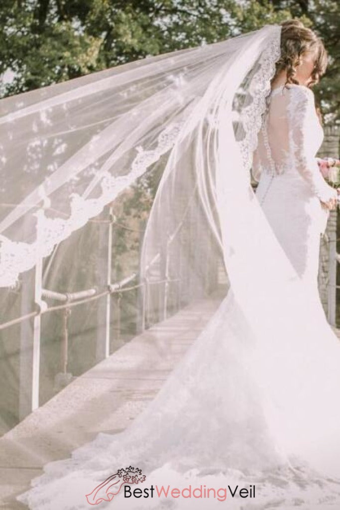 one-layer-tulle-with-lace-edge-long-wedding-veils-with-comb