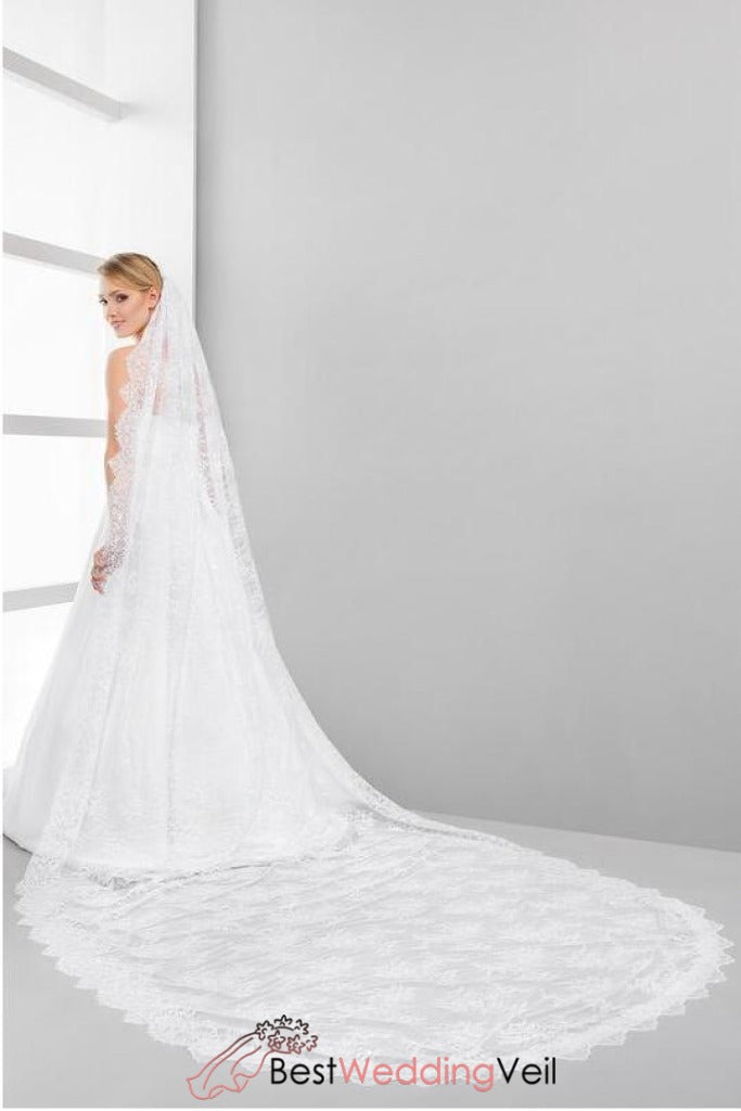 one-tier-full-lace-bride-wedding-veil-cathedral-length