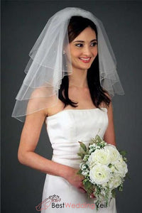 shoulder-length-multi-layer-informal-wedding-veil-beaded-detail
