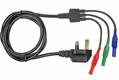 CLIFF - Mains Test Lead Set - Cable Cord - Fluke 1651 1662 1663 Multifunction Tester