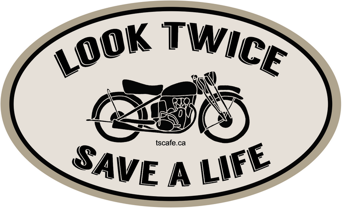 Look Twice Decal - 6""