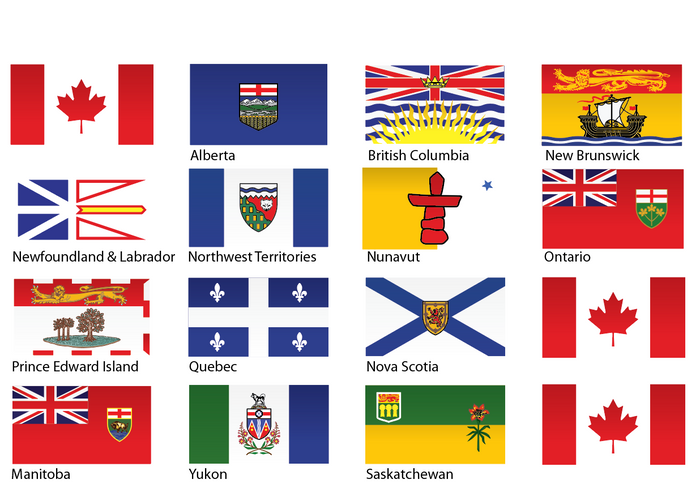 Canadian Provinces - Reflective Decals