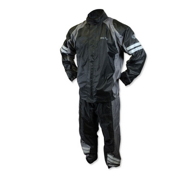ROCKHARD 2PC Rainsuit BLK/GRY