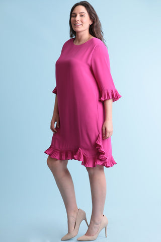 Fuschia frill dress