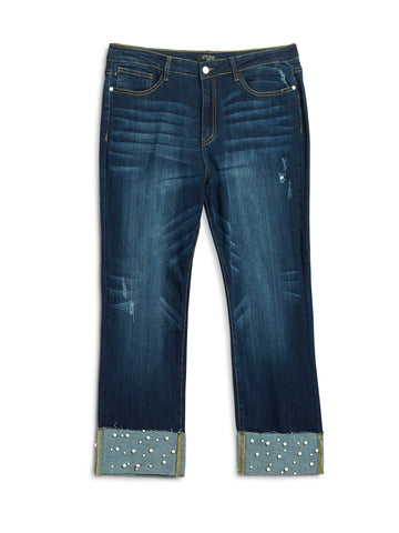 Judy Blue Plus Size Pearl Embellished Jeans