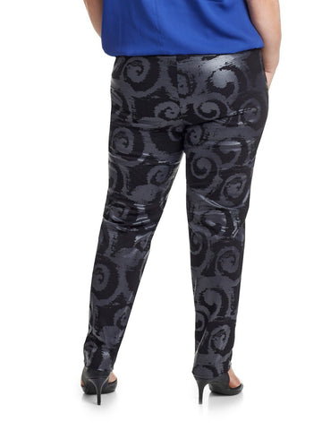 Black Swirls Pant