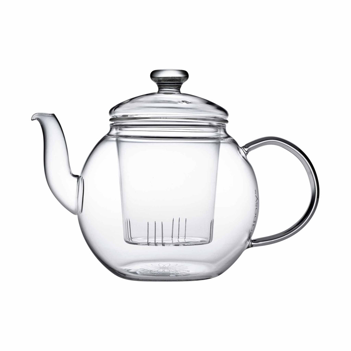 teaposy harvest glass teapot with removable glass loose tea infuser