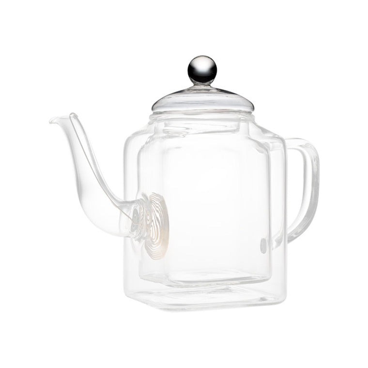 teaposy socrates double-walled glass teapot lid