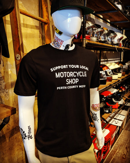 *Perth County Moto - Support Your Local Motorcycle Shop Tee