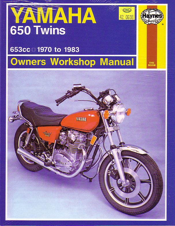 HAYNES REPAIR MANUAL - YAMAHA XS650 XS1 1970 - 1983
