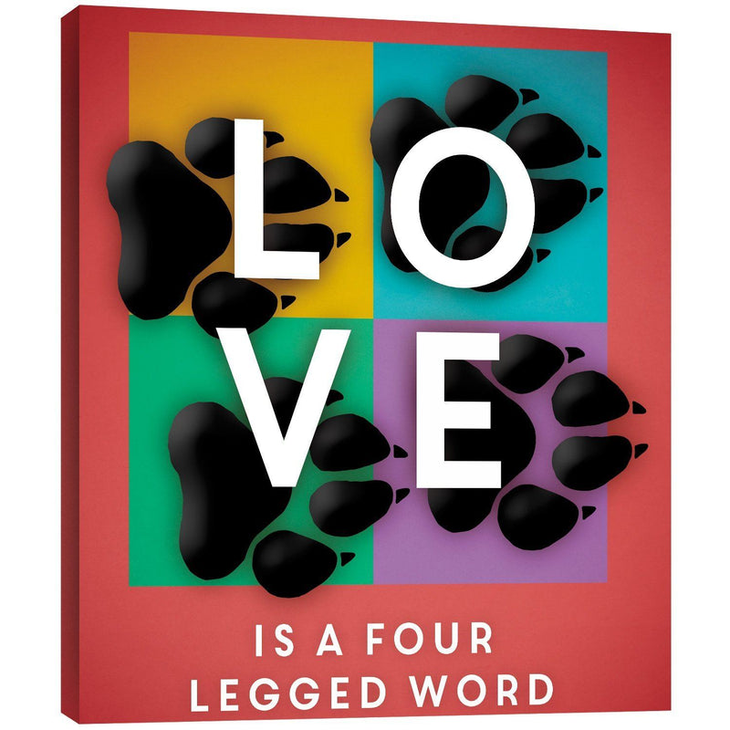 "Tree-Free Greetings 81173 11.25 x 11.25-Inch ""Four Legged Word"" Themed Pet Lover Art EcoArt Home Decor Wall Plaque"