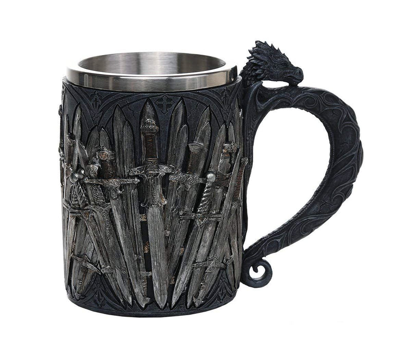 Nemesis Now Legends of The Swords Game of Sword Thrones Dragon Mug Tankard 13oz