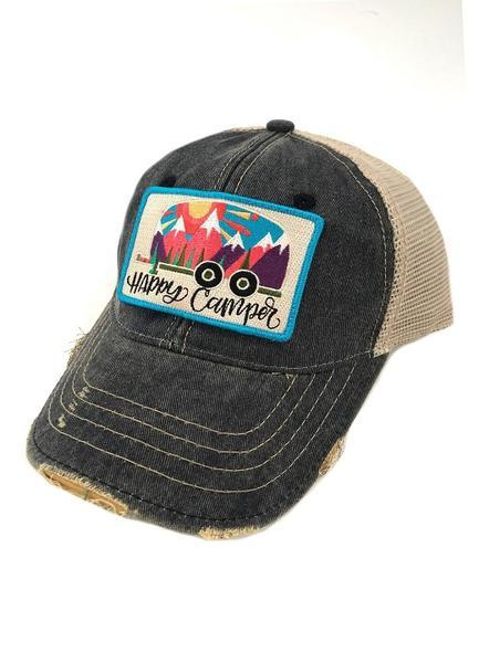 ABSTRACT HAPPY CAMPER PATCH