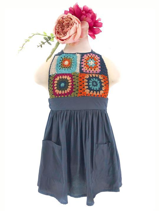 GRACE DRESS IN FESTIE CROCHET FOR LITTLE ONES