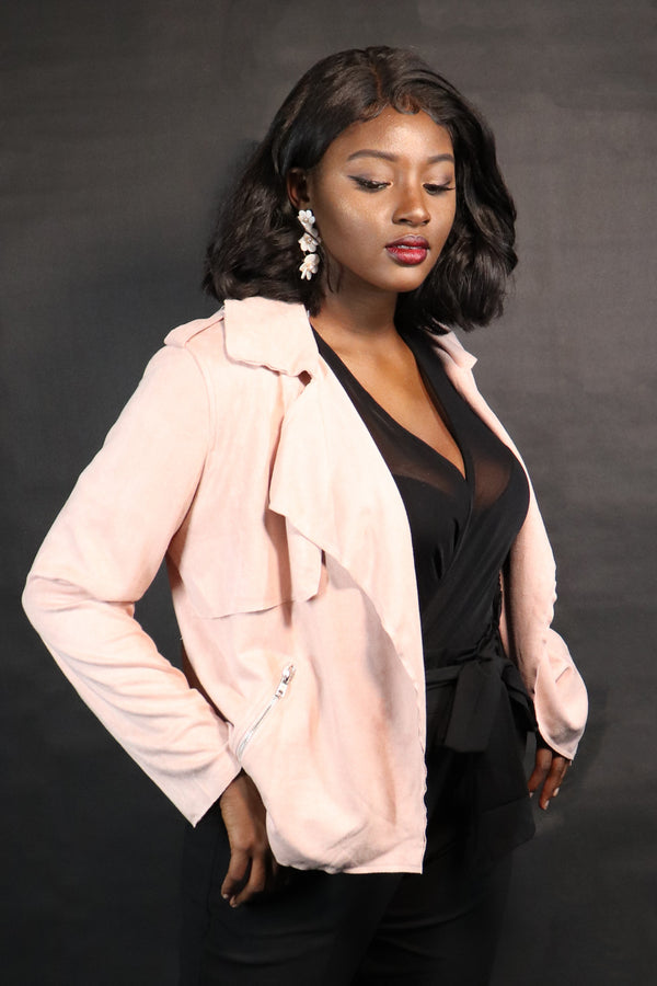 Winter Blush Moto Jacket