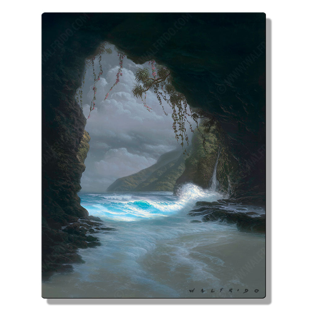 Angelic Light, Open Edition Metal Print by Tropical Hawaii Artist Walfrido