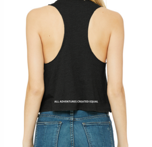 "g+c ""g"" Racerback Cropped Tank Top"