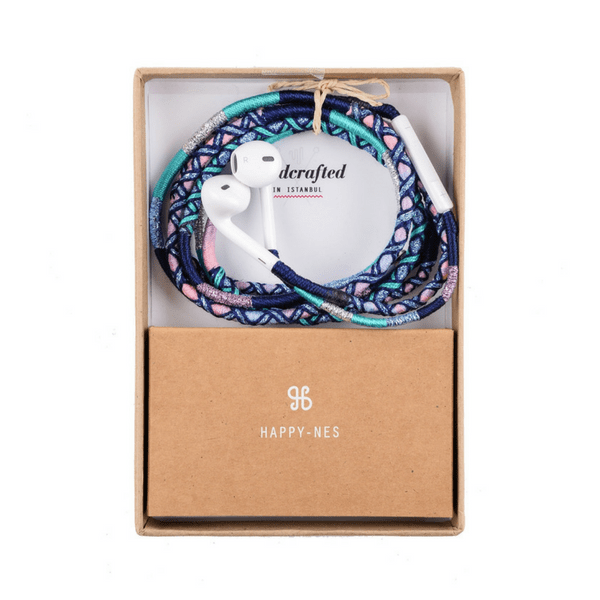 happynes branded multicolored Apple iPhone 6 Earphones | Gigi - hippist.co.uk