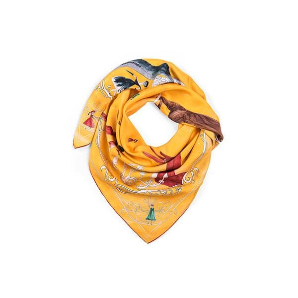 Final Meeting | Silk Scarf - hippist.co.uk