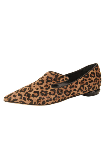 Womens Cheetah Max Pointed Toe Flat