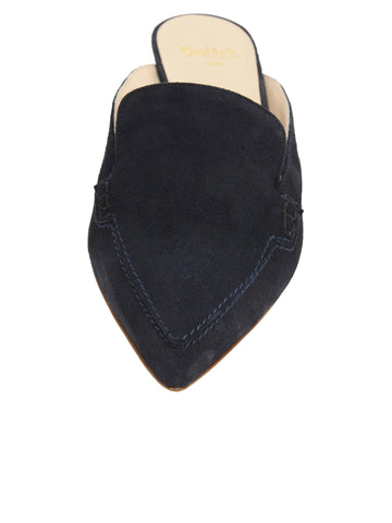 Womens Navy Suede Bablina Kitten Heel Mule 4 Alternate View
