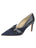 Womens Navy Suede Emilia Pointed Toe Pump