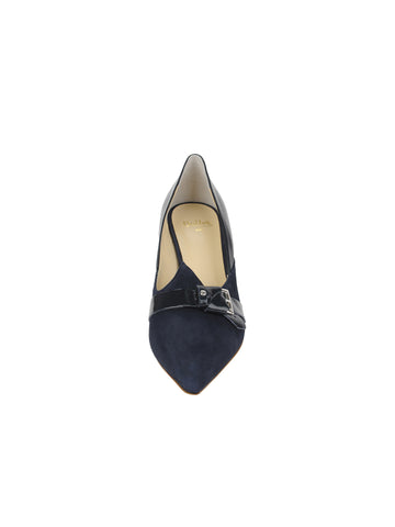 Womens Navy Suede Emilia Pointed Toe Pump 4 Alternate View