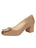 Womens Taupe Suede Daeja Block Heeled Pump