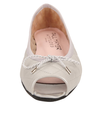 Womens Silver Bay Peep-Toe Flat 4 Alternate View