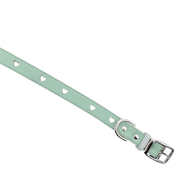 The Bisous Collar in Mint Matcha